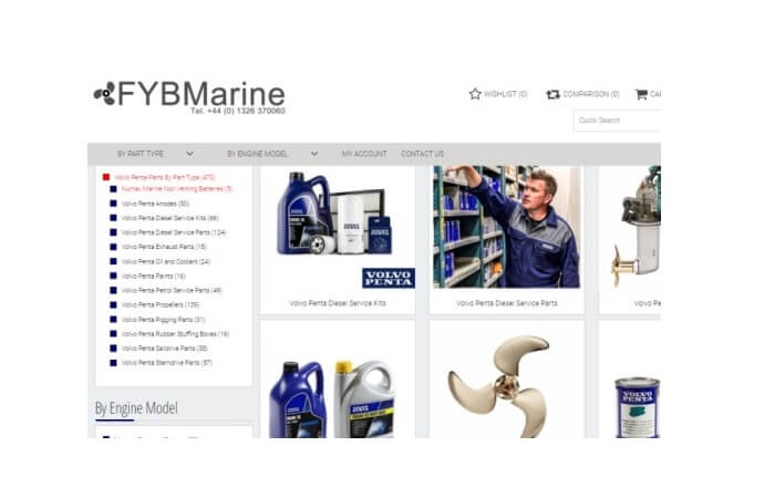 fybmarine shop for Genuine Volvo Penta Parts